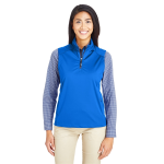 Core 365 Techno Lite Three-Layer Knit Tech-Shell Quarter-Zip Vest - Ladies