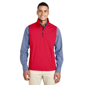 Core 365 Techno Lite Three-Layer Knit Tech-Shell Quarter-Zip Vest - Men's