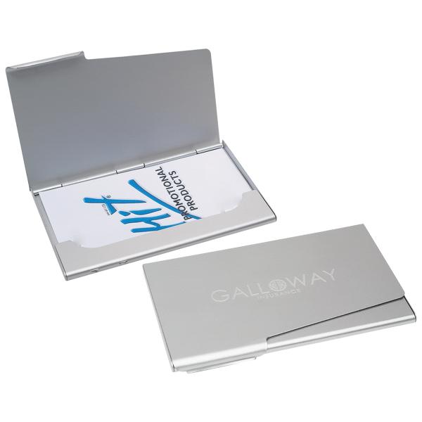 Aluminum Business Card Holder Mo Money Associates Event Gift